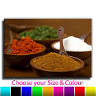 Indian Spice Pots Canvas Art Print Box Framed Picture 4