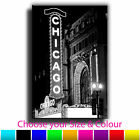 Chicago Sign Single Canvas Wall Art Picture Print 2