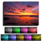 Bright Sea Sunset LANDSCAPE CANVAS Wall Art Print Picture Various Sizes 14