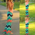 Hot Women Casual Wide Leg Long Colorful Stripe Loose Palazzo Trousers Pants