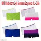 NWT Maidenform 2-pk Seamless Boyshorts XL - Girls