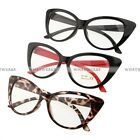 Sexy Vintage Fashion Cat-Eye Shape Women Lady Girls Plastic Plain Eyeglasses WWU