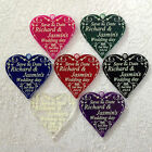 Hanging heart SAVE THE DATE personalised wedding invitation 5cm coloured acrylic