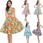 GK Floral Vintage Retro Housewife 40's 50's Swing Party Polka Dresses