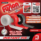 Fuzion Silicone Fusing Pipe Plumbers Electritions Leak Repair Hose Exhausts Tape
