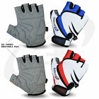 Men Cycling Gloves Bike Half Finger Bicycle Gel Padded Fingerless Sports NEW