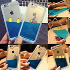 Dynamic Floating Swimming Lovely Duck 3D Liquid Water Hard Case for iPhone5/6/6+