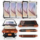 Waterproof Shockproof Aluminum Metal Case Glass Cover for Samsung Galaxy S6 Edge