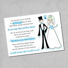 10 X Wedding Poem Cards - Ask For Money Cash Gift-choice Of Colours