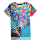 Balloon Multicolor Tshirt 3D Funny Fashion Tee Short Sleeve Women Men Hiphop Top