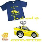 C6 'I'm All Wound Up' Youth Royal Blue Corvette Tee Shirt Royal