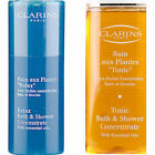 CLARINS 2 x 50ml TONIC OR RELAX BATH & SHOWER CONCENTRATE
