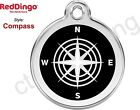 Red Dingo COMPASS Engraved Dog ID Pet Tag/Charm - Lifetime Guarantee