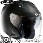 HJC FG-JET MATT BLACK OPEN FACE MOTORCYCLE MOTORBIKE BIKE SCOOTER HELMET