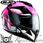 HJC IS-17 PINK ROCKET FULL FACE LADIES MOTORCYCLE MOTORBIKE BIKE HELMET