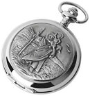 St Christopher Pocket Watch, Woodford,Good Luck Travel, Men's Gift Boxed New