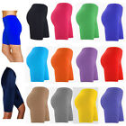 LADIES WOMENS CYCLING SHORTS DANCING SHORTS LYCRA LEGGINGS ACTIVE CASUAL SHORTS