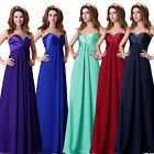 New Formal Long Evening Ball Gown Party Prom Bridesmaid Dress 7colors Size 6-20