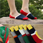 10 Pairs Mens Combed Cotton Loafer Boat Invisible No Show Nonslip Low Cut Socks