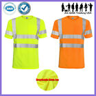 Kyпить Hi Vis T Shirt ANSI/ISEA Class 3 Road Work Safety Short Sleeve High Visibility  на еВаy.соm