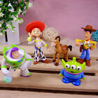 5Pcs Toy Story Sherif Woody Buzz Lightyear Aliens Figures Doll Cake Toppers Toys