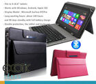 for Sony Xperia Tablet Z4, Z2, Z1 Leather Cover with pouch + Bluetooth Keyboard