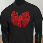 Big Logo Hip Hop Classics Wu Tang 20 Years Red Mens Black T-Shirt