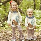 Mud Pie Forest Friends Squirrel Tunic & Legging Girls 3M-5T # 1112279 NWT