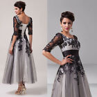 Lace Mother of the Bride Long Formal Wedding Guest Party Evening Prom Dress 6-20