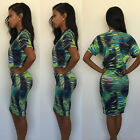 Fashion Womens Bodycon Two Piece Look Dress Top Skirt Set Cocktail Party Dress