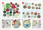 100x Assorted Craft DIY Scrapbook Paper Flower Party Wedding Christmas Decor