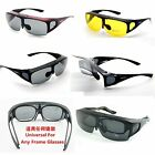 MENS WOMENS LADIES POLARIZED SUNGLASSES DRIVING WRAP FIT OVER FLIP UP GLASSES
