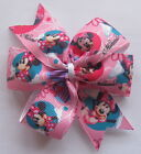 Minnie Mouse Hair Bows - Clips & Bobbles - Pink Circles