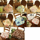 French Country Floral Rose Chic Quilted Cotton Chair Seat Pad/Mat cushion