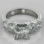 3.11Ct Princess Cut Engagement Ring 14K White Gold With Optional Matching Band