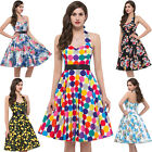 50's 50's Womens Vintage Floral Print Summer Maxi Dress Homecoming Cocktail NEW
