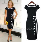Women Office Lady Bodycon Cocktail Evening PartyWork Business Pencil Midi Dress