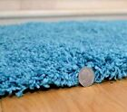 Large Plain Teal Blue Rug Shaggy Mat Soft Luxurious New Thick Chunky 5cm Pile UK