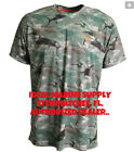 Aftco Caster Short Sleeve Green Camo UV Performance T-Shirt Pick Size. Fast Ship