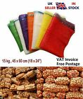 Net Woven Sacks Vegetables Logs Kindling Wood Log Mesh Bags 45x60 cm 15 kg