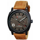 Fashion Curren Men Military Leather Strap Wrist Sport Analog Watch Gentleman