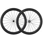 Lightweight Aero Wheels 56mm Clincher Tubeless Carbon Road Bike Wheelset
