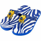 MISS TRISH LADIES DESIGNER FLIP FLOPS - ROYAL/ROYAL - LION UK SIZE 3 - 8 RRP £40