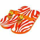 MISS TRISH LADIES DESIGNER FLIP FLOPS - ORANGE/ORANGE - LION UK SIZE 5 RRP £40