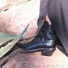 ZARA NEW 2015. LEATHER COWBOY POINTED ANKLE BOOTIES BOOTS WITH. REF 5162/001.