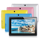 "8GB 7"" Google Android 4.4 Tablet PC for Kids Children Dual Cameras WiFi Colors"