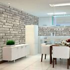 wallpaper for decorating walls - Vintage Faux Brick 3D Wallpaper for Home Lt.Grey Wall Kitchen Decor 20.8