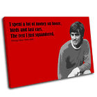 George Best Canvas Wall Art Print Framed Picture PREMIUM QUALITY