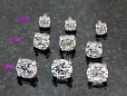 3 Pc 14g 3mm 4mm 5mm Extra Bling Round Prong Set Clear CZ Dermal Anchor Top