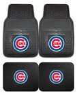 Chicago Cubs Car Mats 4 Pc Front & Rear Heavy Duty Vinyl